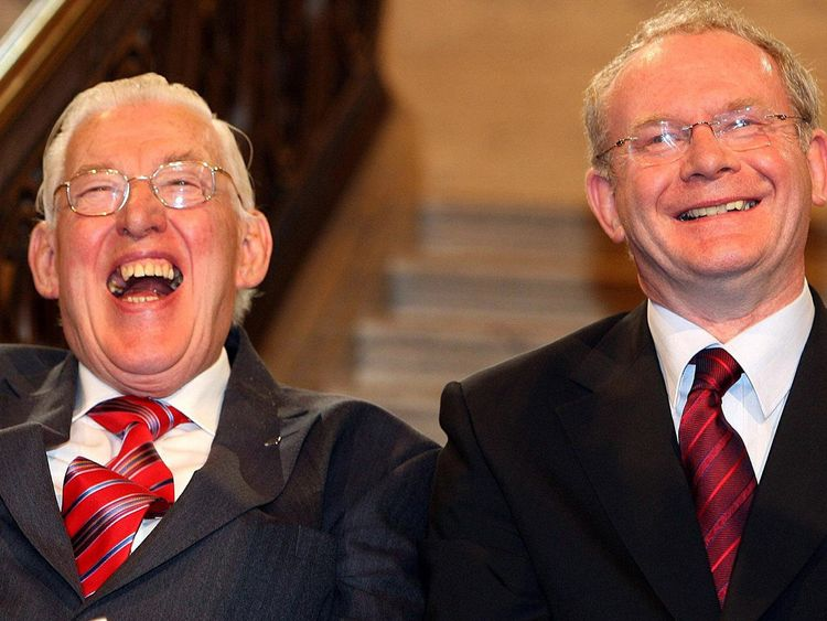 The Rev Ian Paisley (L) and Martin McGuinness in May 2007