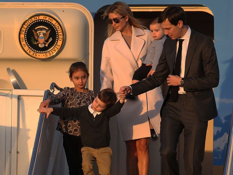 Ivanka Trump, Jared Kushner and their family travel on Air Force One