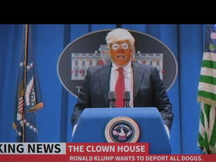 Trump is portrayed as 'Ronald Klump' in the video