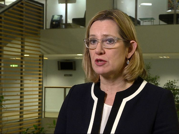 Home Secretary says she has complete confidence in the intelligence services