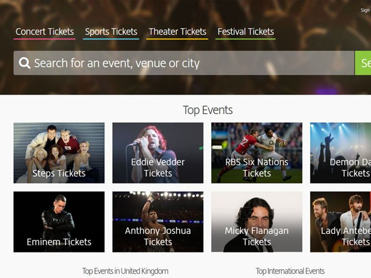 Secondary ticketing website Viagogo