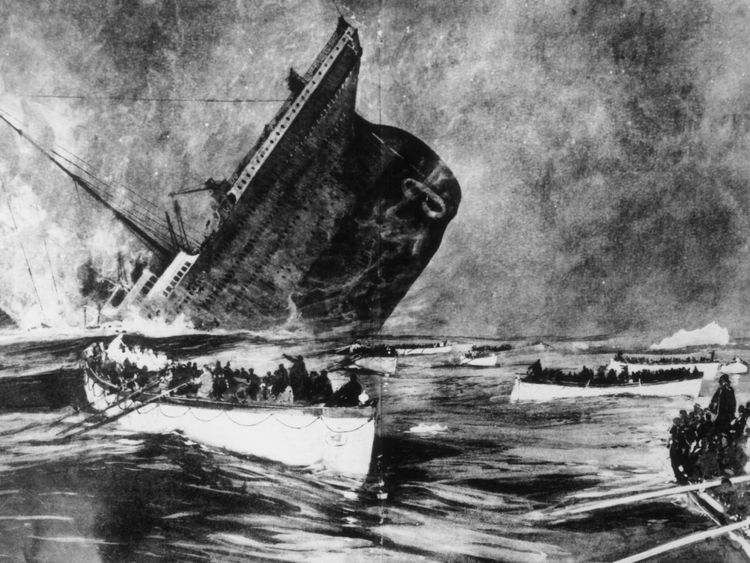 More than 1500 people died after the liner struck an iceberg in the North Atlantic