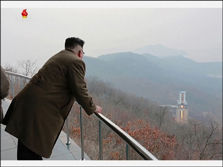 Kim Jong-un watches the new missile test