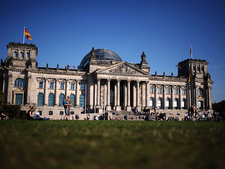 The German Reichstag building, which houses the Bundestag parliament