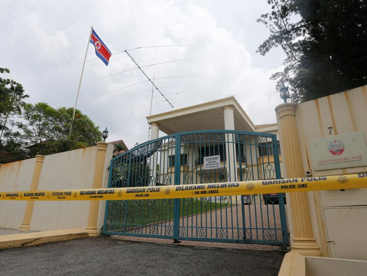 Malaysian police are trying to determine how many people are in the North Korean embassy in Kuala Lumpur