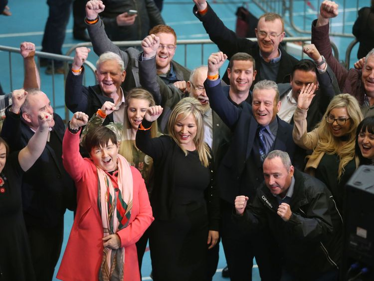Sinn Fein Leader in the North Michelle O'Neill on a victorious night