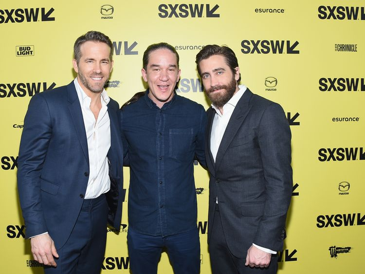 Actor Ryan Reynolds, Director Daniel Espinosa, and actor Jake Gyllenhaal