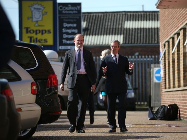 2015: Mr Carswell on the campaign trail in Clacton with former UKIP leader Nigel Farage
