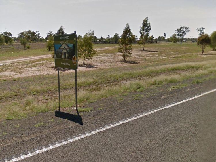 The Warrego Highway in Mitchell, Australia. Pic: Google Street View