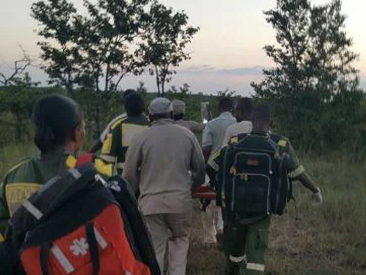 2 ladies were attacked by an elephant in the @SANParksKNP where the other lost her life and other was transported. Pic: @Maponya911