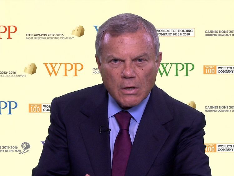 Sir Martin Sorrell talks to Sky News