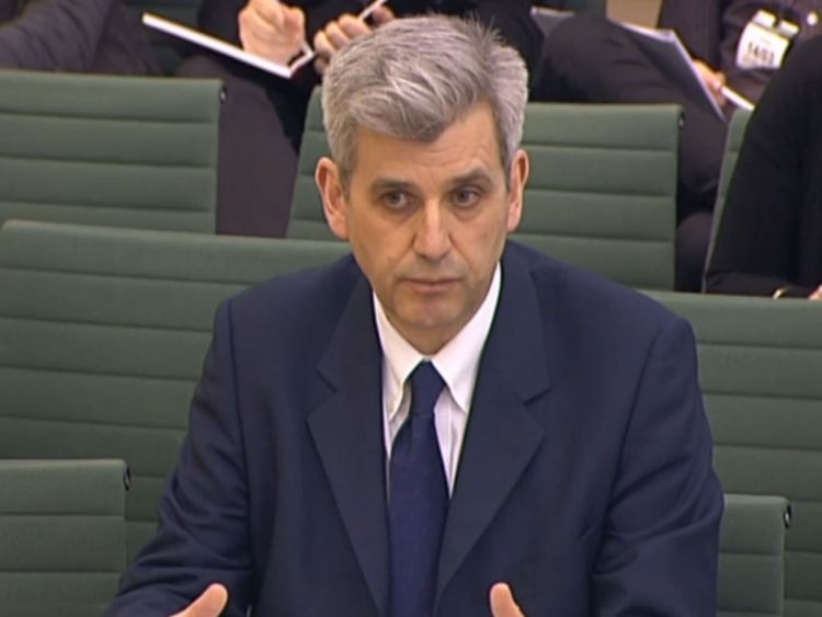 Peter Barron, vice president of communications and public affairs at Google, appears before Home Affairs Select Committee