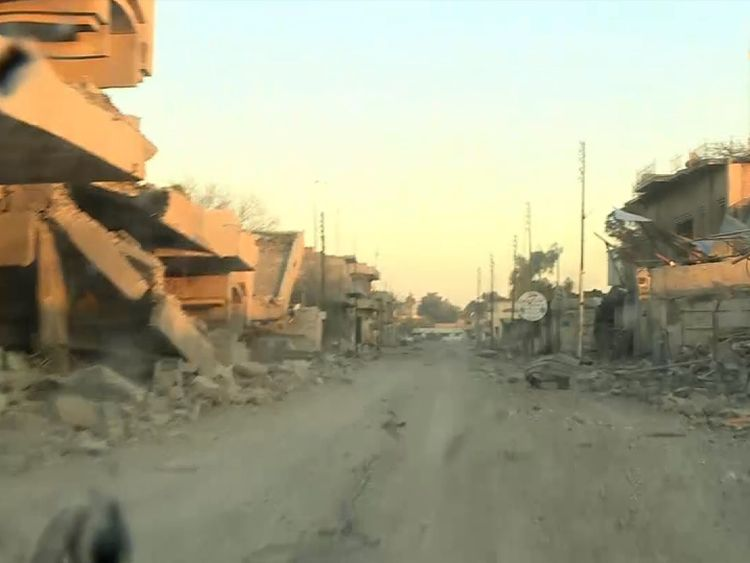 Sky's Stuart Ramsay is near the front line for the battle for Mosul