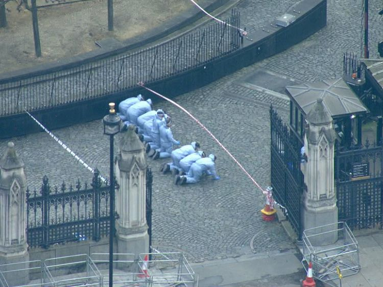 Forensics team in Westminster
