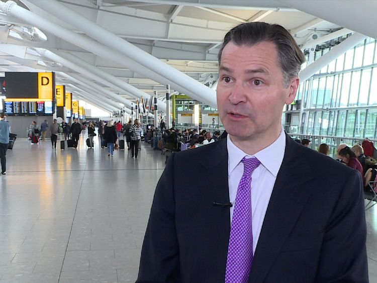Chief executive of Heathrow, John Holland-Kaye