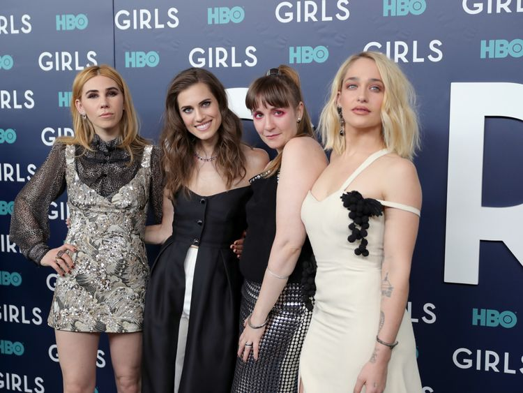 Girls stars Zosia Mamet, Allison Williams, Lena Dunham and Jemima Kirke