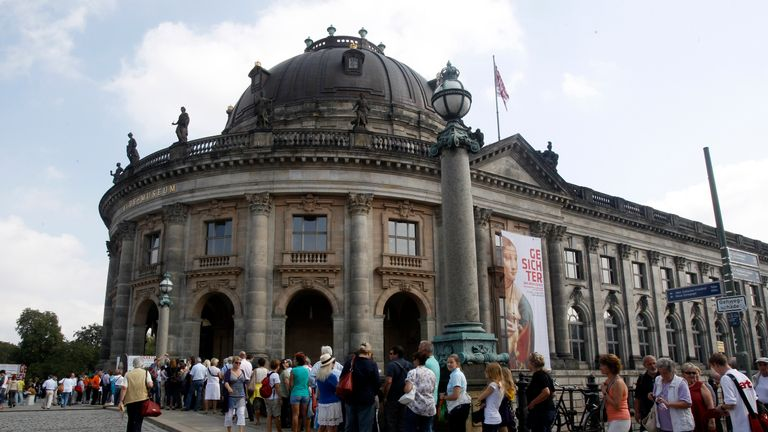 The coin was taken from the Bode Museum in Berlin