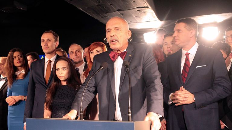 Janusz Korwin-Mikke has been punished for his remarks