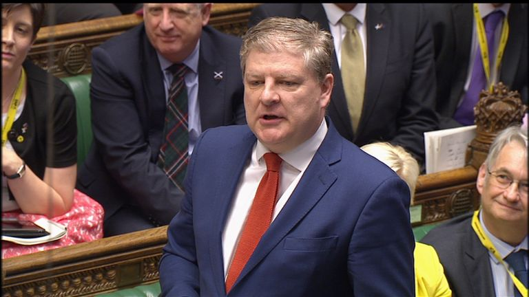 Angus Robertson of the SNP at PMQs