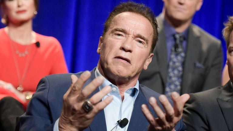 Arnold Schwarzenegger attends The New Celebrity Apprentice Q & A