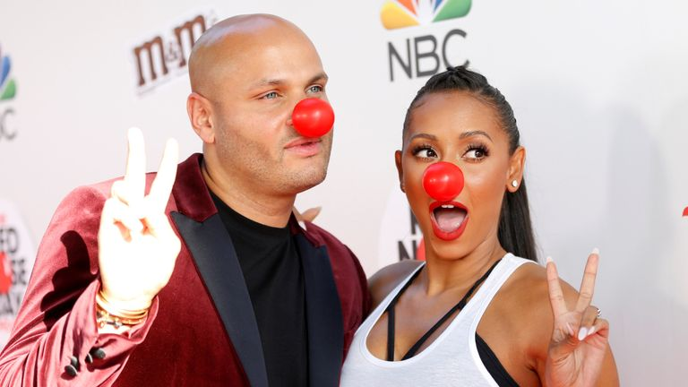 Mel B and her husband Stephen Belafonte in 2016