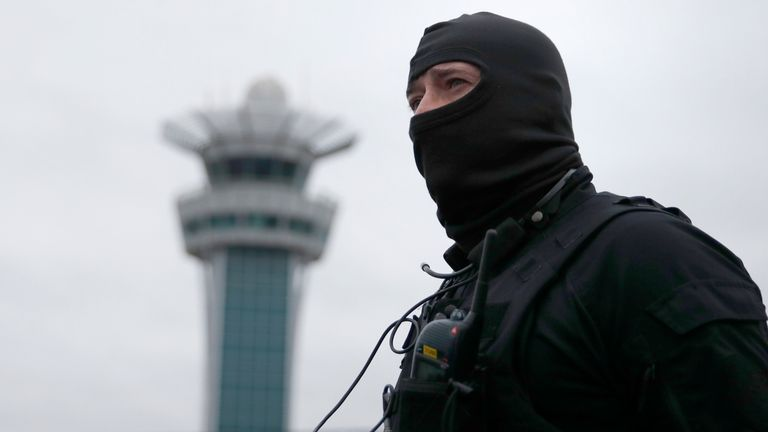 Police special forces have locked down Orly airport following the attack