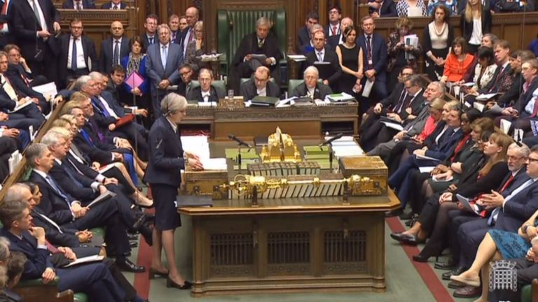 Prime Minister Theresa May announces in the House of Commons that she has triggered Article 50