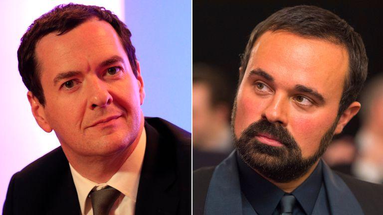 George Osborne and Evgeny Lebedev