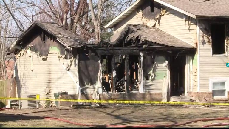 Six children made it out of the burning house alive. Pic: KSDK