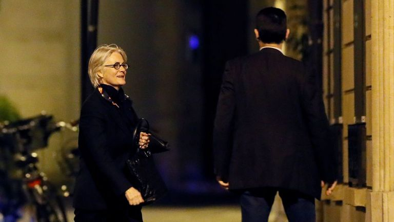 Penelope Fillon returns to her apartment after she was reportedly charged