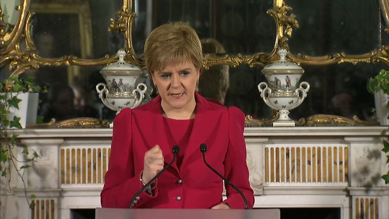 Nicola Sturgeon seeks a mandate for a second independence referendum