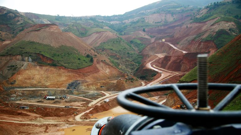 Banro Corporation's gold mine in Twangiza, Democratic Republic of the Congo