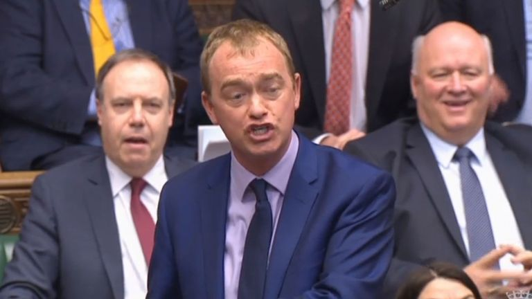 Liberal Democrats leader Tim Farron responds to Theresa May's announcement