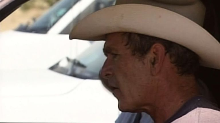 George Bush on his Texas ranch during his presidency