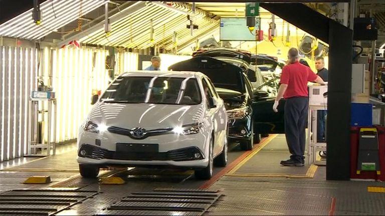 Toyota produces hybrid vehicles at Burnaston