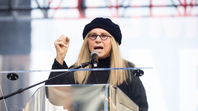 Barbra Streisand has been vocal about her disapproval of Mr Trump