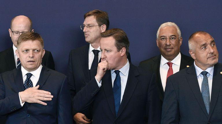 David Cameron at an EU summit last year
