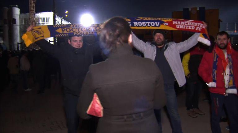 Rostov football fans
