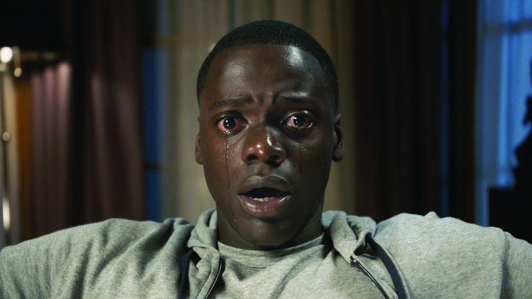Daniel Kaluuya in Jordan Peele's satirical horror film Get Out