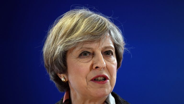 Prime Minister Theresa May speaks at EU summit news conference