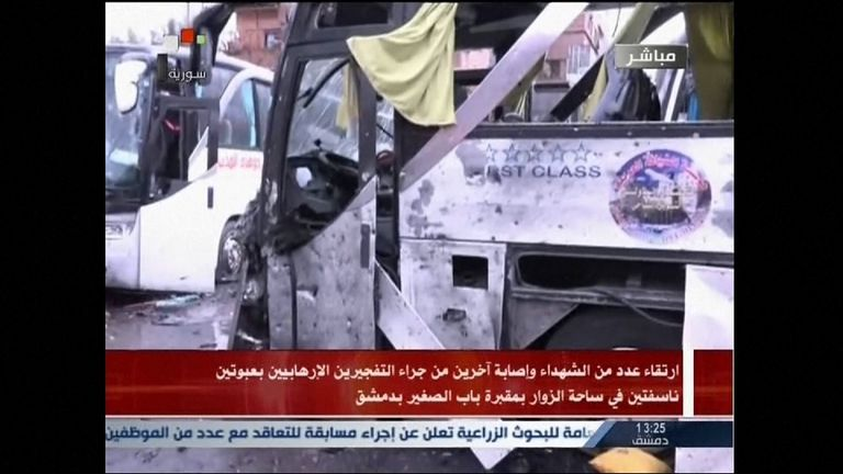 Twin bombings left dozens dead in Damascus