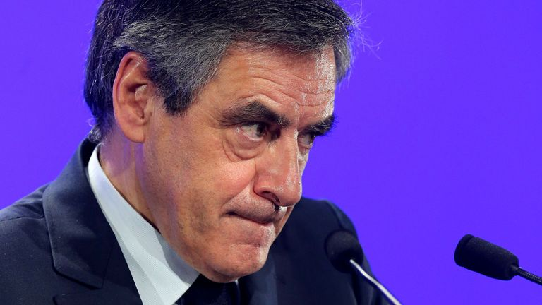 Mr Fillon allegedly paid his wife Penelope 830,000 euros for work she did not do
