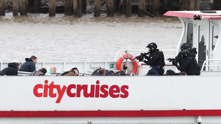 Terror exercise on Thames