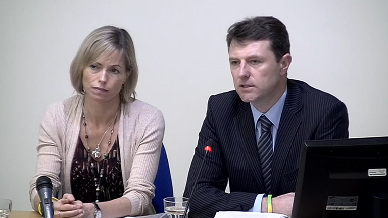Kate and Gerry McCann give evidence to the Leveson Inquiry