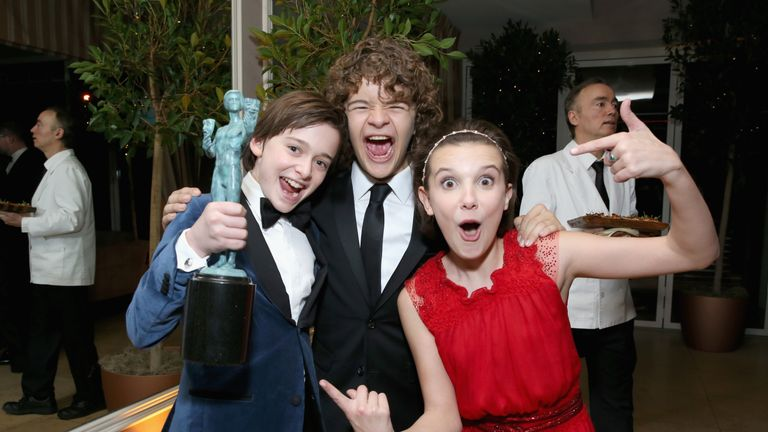 Stranger Things cast at the 2017 Screen Actors Guild Awards