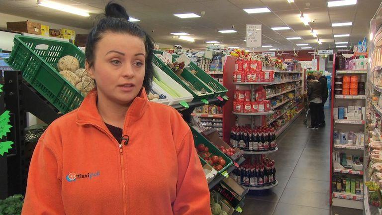 Polish supermarket worker Klaudia Szydlowska
