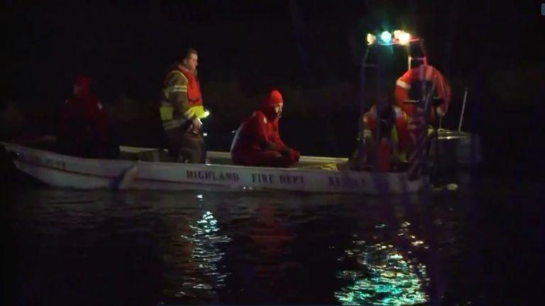 Silver Lake being searched. Pic: KSDK