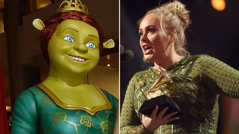 Adele hit back at critics who said she looked like Fiona from Shrek