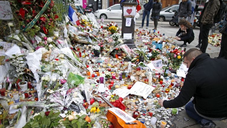 Tributes to the Bataclan victims
