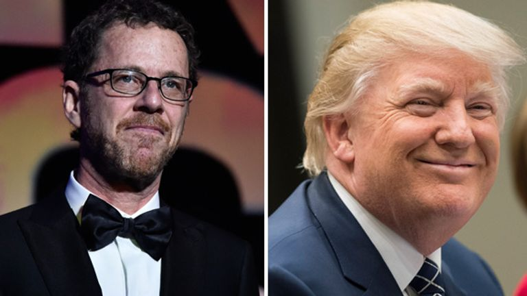 Coen has been a vocal critic of the Trump administration... in a poetic way